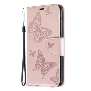 ل Samsung Galaxy A10 / A10E / A20E / A20 / A30 / A40 / A50 / A70 Case Case تنقش فراشة فيلب حامل بو الجلود محفظة مع فتحة بطاقة