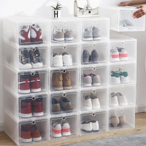 AJ shoe box high-top basketball shoes dustproof storage box with hard material 2 packs heightened clamshell aj transparent shoes Z1123