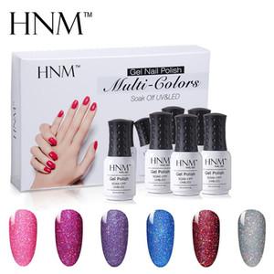 HNM 6 Color 8ML Bling Neon Gel Nail Set 6pcs lot Glitter Nail Polish Sets Led UV Art GelLak Semi Permanent Hybrid Varnishes