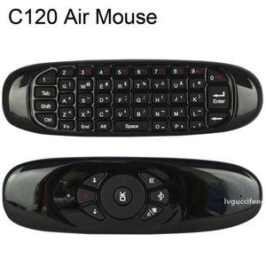 C120 스마트 TV 상자에 대 한 C120 비행 마우스 충전식 2.4GHz 미니 무선 키보드 미니 PC 20pcs / lot