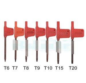 2020 Kırmızı Tornavida Araçları Vida Küçük T20 T8 T7 T6 Torx T10 Anahtar Bayrak T9 Sürücüler Somun Anner 200 adet / grup T15 JLLPJ FFSHOP2001