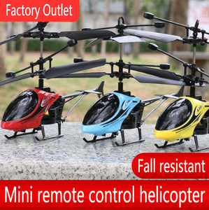 Factory direct remote control airplane helicopter mini drop-resistant children's drop-resistant small airplane rechargeable toy