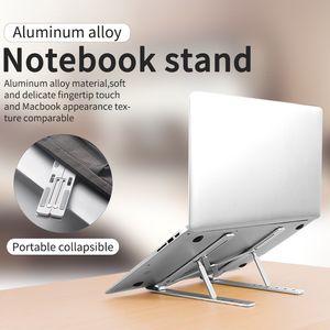 Aluminum Alloy Laptop Stand Adjustable Folding Portable for Notebook Computer Bracket Lifting Cooling Holder Non-slip