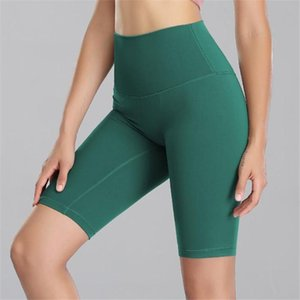 2020 New Seamless Yoga Shorts Women High Waist Fitness Clothing Push Up Hip Gym Shorts Sports Solid Workout Shortswear 5 Colors