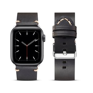 Luxury Classic Buckle Genuine Cowhide Wristband Bracelet for iWatch Series 1 2 3 4 5 6 SE Waterproof Vintage Vegan Real Leather Band