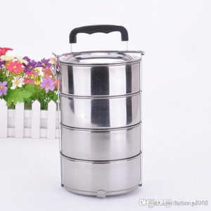 Portable Stainless Steel Lunchboxes With Lock Double Boilers Buckle Keep Fresh Food Jars Bento Box For Tour Round 9js J R