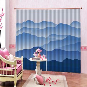 Customized 3D Blackout Curtain With Hooks Forest scenery Fog Cloud Mountain Valley Landscape Window Drapes Home Indoor Decor