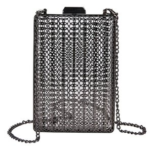 Metal Fashion Style Hollow Women's Evening Bag Shoulder Crossbody Bags Clutch Cage Handbag