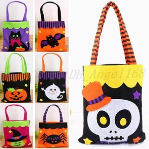 Halloween Non-Woven Bags Ghost Candy Gift Wrap Bags For Ghost Pumpkin Spider Skull Handle Bag Party Xmas Halloween Decoration