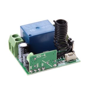 Alloyseed العالمي اللاسلكي DC 12V 10A 433MHZ التحكم عن بعد التبديل جهاز إرسال مع جهاز استقبال التحكم عن بعد لاسلكي