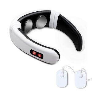 Elektrikli Boyun Masajı Darbe Geri 6 Modu Güç Kontrol Uzak Kızılötesi Isıtma Ağrı Kazanım Aracı Sağlık Gevşeme Makinesi