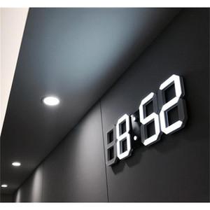 Modern Design 3d Led Wall Clock Modern Digital Alarm Clocks Display Home Living Room Office Table Desk Night Wal jllHGW bdebag
