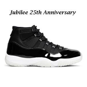 air jordan 11 retro jumpman 11s chaussures de basket-ball pour hommes Jubilee 25th Anniversary noir blanc hommes femmes formateurs baskets de sport taille 5.5-13 avec boîte