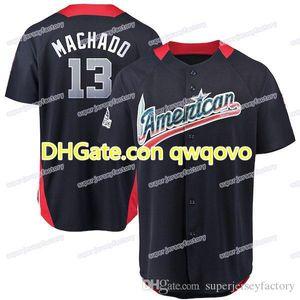 Homens 2018 All Star 13 MannyMachado 35 Brad Brad 54 Andrew Cashner 60 MyChal Givens 36 Caleb Joseph 29 Jace Peterson Baseball Jerseys