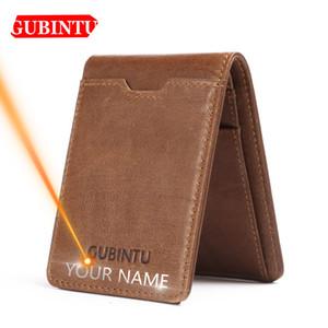 Gubintu Fina Couro Homens Carteiras titular do cartão multifuncional Magro Marca Men bolsa de negócios de alta qualidade Homens Carteiras C1115