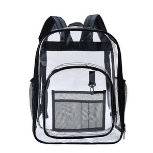 Aosbos PVC Waterproof Transparent School Bag See Through Backpacks High Quality Large Capacity Solid Clear Backpack
