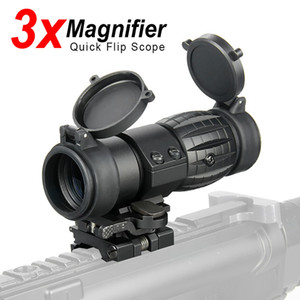 PPT Optic Sight 3X Scope Compact Hunting Riflescope Sights with Flip Up cover Fit for 21.2mm Rifle Rail Mount CL1-0002