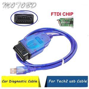 2020 Novo Profissional OBDII OBD2 10 PIN para OPE1 TECH USB Cabos de diagnóstico Conectores Tech 2 USB Interface1