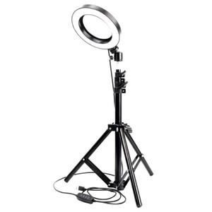 1,7 metros Dimmable LED estúdio câmara câmera luz foto video luz lâmpada de luz com tripés sala de beleza Selfie anel preencher