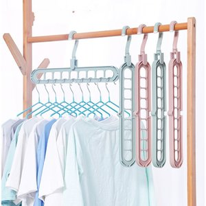 Solid Color Clothes Stand Antiskid Air Drying Hangers Travel Space Saving Folding Rack Wardrobe Storage Closet Accessories 1 2wh B2