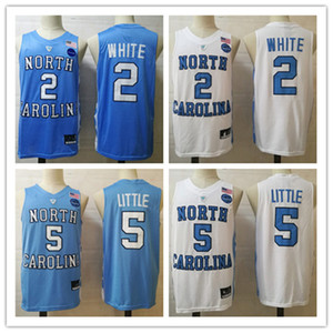 Mens NCAA Norte Carolina Tar Heels Nassir Little Basketball Jersey costurado # 2 COBY Branco Norte Carolina Jersey S-3XL