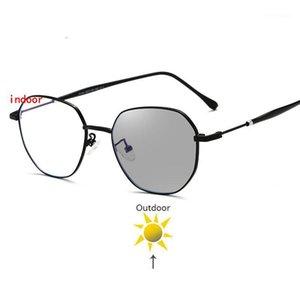 Sunglasses Frames Fashion Myopia Pochromic Finished Women Eyeglasses Frame Prescription Lens Sun Glasses Eyewear FML1