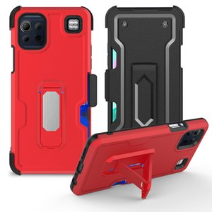 Factory price Shockproof Heavy Duty Defender Holster Belt Clip Metal Stand Phone Case For LG K92 5G Stylo 6 K51 Harmony 4 Card Slot Back