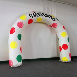 Welcome Export Inflatable Arch and Inflatables Balloon Clorful Arches with LED Strip and Blower For Christmas Decoration