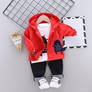 Spring Clothing Sets Autumn New Kids Fashion Cotton Coats Hoodies+shirt +pants 3pcs Children Boys Casual Sports Suit