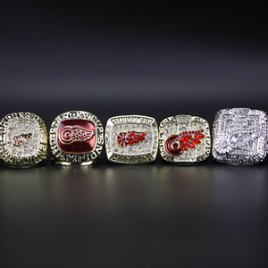 5 pcs New exquisite Wholesale 1986 1997 1998 2002 2008 Detroit Red Wings Ring Holiday Fans Souvenir Gift for Birthday Christmas
