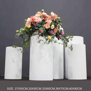 PROPRES DE MARIAGE BLANCHE FER CHERCHÉE FERIE CYLINDRIQUE TABLE DE DESSERTS CINQ-PIÈCES Zone de bienvenue Gâteau Stand Cérémonie Pavillon Fleur Table EEE23
