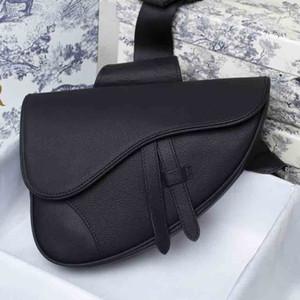 Bolsa de pecho de hombre clásico bolsas retro de silla de montar de moda bolsa de hombro bolsa de cintura bolsa de cuero genuino de alta calidad