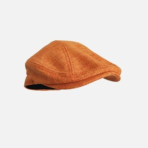 Beret Caps Outdoor Sun Breathable Flat Hats Womens Mens Ivy Cap Solid Color Duckbill Hats Vintage Gatsby Beret Hat