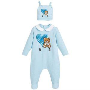 Macacões do Bebê Ternos do Corpo Capa Meninos Recém-nascidos Meninas de One-Peças Roupas De Cor Sólida Impresso Bebê Primavera e Outono mangas compridas Sleepsuits