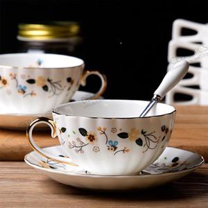 3шт прямые продажи Новый продукт сад ветер керамическая кость фарфора China Cheeck чашка блюдо набор дневной чашки ручной роспись