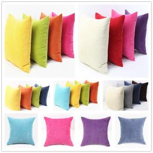 Nordic Plaid Cushion Coperchio morbido Striscia di velluto a striscia di colore solido cuscino per il divano Home Decor Car Personalizzato 30/35/40/45/50 / 60 cm