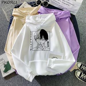 Anime Boku No My Hero Academia Shood Sudaderas Sudaderas con capucha Moleton Cosplay Hoodie Anime Harajuku Bakugou Abrigo de invierno Otoño Y1209