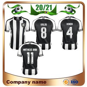 20/21 Botafogo de Futebol E Regatas Black Soccer Jerseys 2021 Botafogo Home # 1 Jefferson Soccer Shirt Chemise de football Uniforme