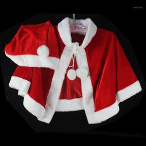 Theme Costume Red Shawl Santa Claus Christmas Clothes Female Adult Role Playing Costumes And Hat1