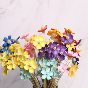 Dried Violet Butterfly Bouquet Real Flower Art Living Room Decorations Shooting Props Materials Manual Permanent Flowers Y1128