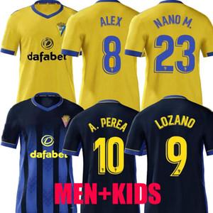 2020 2021 Cadice Soccer Jerseys Cádiz CF Camisetas de Fútbol 20 21 Lozano Alex Bodiger Juan Cala Camiseta A Liga Men + Bambini Camicie da calcio