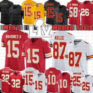 Patrick Mahomes 15 Travis Kelce Football Jersey Tyreek Hill Tyrann Mathieu Clyde Edwards-Helaire Chris Jones L'Jarius Sneed Daniel Sorensen