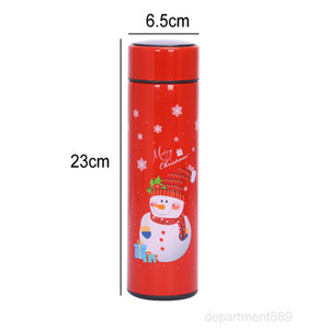 NEW 17oz Christmas Temperature Display Double Wall Gifts Xmas Insulated Vacuum Sport Stainless Steel Water Bottle OWA1818