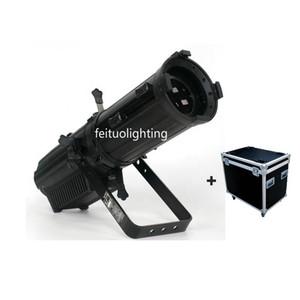 2 шт. + Чехол из полета Новый светодиодный профиль Spot Light с ручным зум 200W WW / CW COB светодиодный эллипсоидальный свет