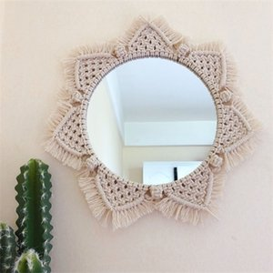 Macrame Hanging Decorations Dyed Bohemia Handcraft Tassel Tapestry Background Wall farmhouse decor Home Decoration