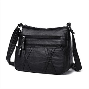 Solid Color Shoulder Messenger Bag for Women Handbags Phone Money Pouch Casual PU Leather Small Crossbody Bags Bolsas Feminina