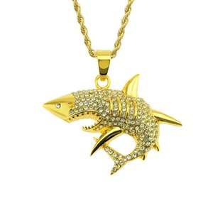 2020 Brand Designer Necklace Western New Hip Megalodon Pendant Hot Diamond Pendant Shark