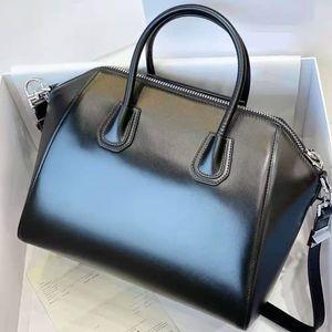 2020 الساخنة مبيع حقائب اليد المحافظ جي أنتيجونا دراجة نارية سستة سوداء لامعة جلد طبيعي حقيبة الكتف الأزياء أكياس الأزياء الشهيرة أعلى جودة 7a