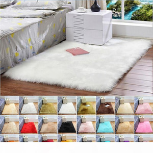 White Long Plush Carpets Living Room Bedroom Rug Antiskid Soft Carpet Modern Carpet Mat Child Bedroom Safe Mat 100*180cm