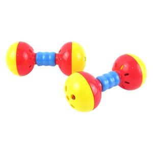 Muñeca multifuncional Muñeca Doble cabeza Cabello Bell Toy Toy Stick Stick BB Stick Mirror Mano Material de Plastic Material BBYNED